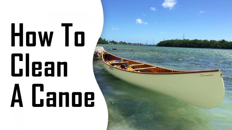 how to clean a canoe